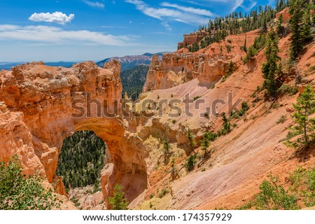 Natural bridge or arch at Bryce Canyon National park, Utah, USA - stock photo