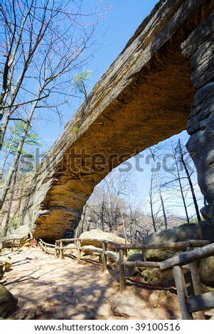 Natural Bridge State Park in Kentucky - stock photo