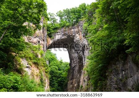 Natural Bridge, Virginia - stock photo