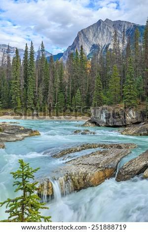 Natural Bridge, Yoho National Park, British Columbia, Canada - stock photo