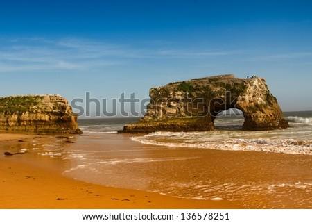natural bridges state beach santa cruz - stock photo