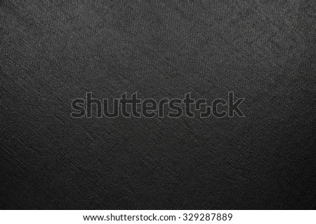 Natural Bright Black Fiber Linen Texture, Large Detailed Macro Closeup, rustic vintage textured fabric burlap canvas background, diagonal pattern, horizontal copy space - stock photo