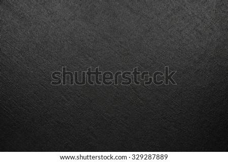 Natural Bright Black Fiber Linen Texture, Large Detailed Macro Closeup, rustic vintage textured fabric burlap canvas background, diagonal pattern, horizontal copy space - stock photo