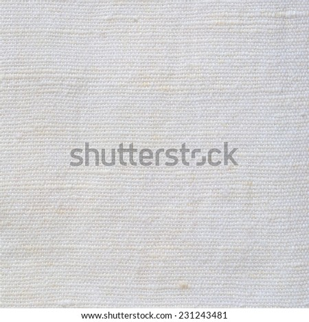 Natural Bright White Flax Fiber Linen Texture, Detailed Macro Closeup, rustic crumpled vintage textured fabric burlap canvas pattern, beige copy space - stock photo