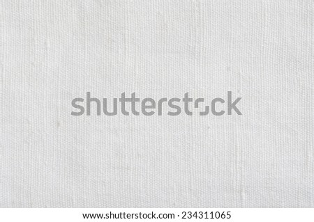 Natural Bright White Flax Fiber Linen Texture, Detailed Macro Closeup, rustic crumpled vintage textured fabric burlap canvas pattern, horizontal - stock photo