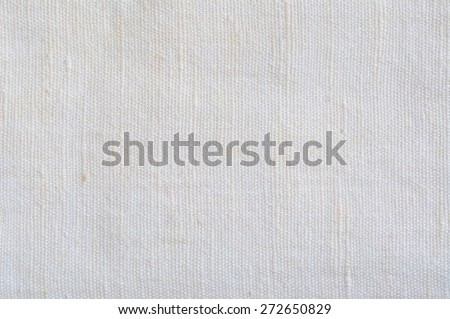 Natural Bright White Flax Fiber Linen Texture, Detailed Macro Closeup, rustic crumpled vintage textured fabric burlap canvas pattern, horizontal copy space - stock photo