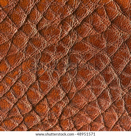 Natural brown leather - stock photo