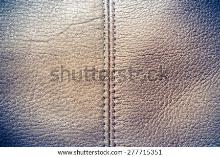 Natural brown leather texture - stock photo