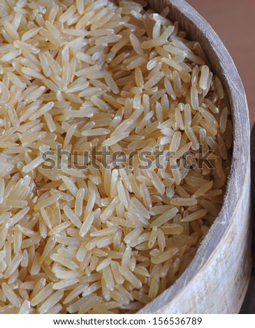 Natural brown rice  - stock photo