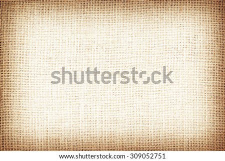 Natural brown sackcloth textured for background. - stock photo