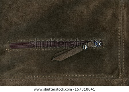 Natural Brown Suede Texture - stock photo