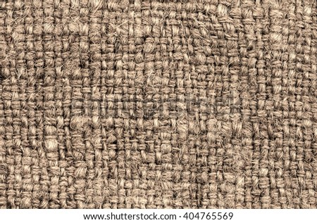 Natural Brown Textile Background / Canvas Fabric Textured Background.  - stock photo