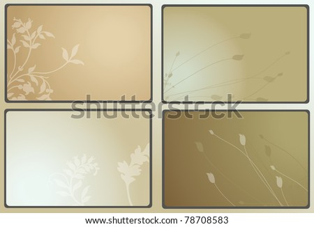 natural business card template - stock photo