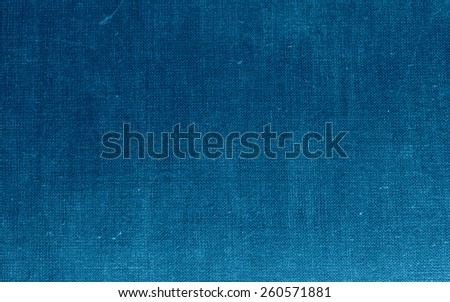 Natural canvas background texture grid - blue - stock photo