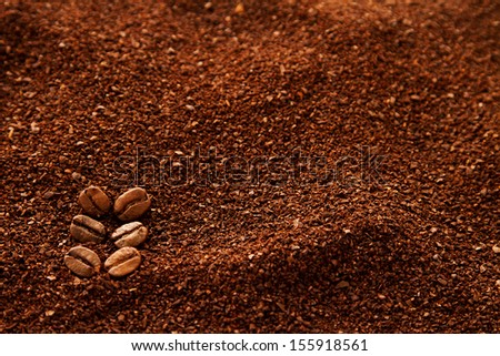 Natural coffee background - stock photo
