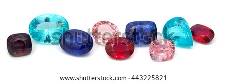 Natural Colored Gemstones - stock photo