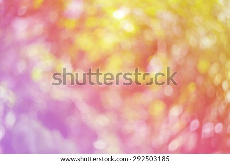 Natural colorful bright blur background of sunny summer forest - stock photo