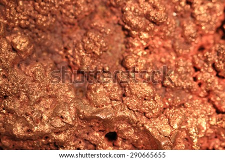 natural copper as nice natural mineral background - stock photo