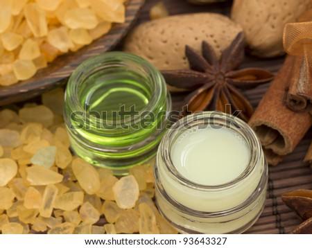 natural cosmetics - stock photo