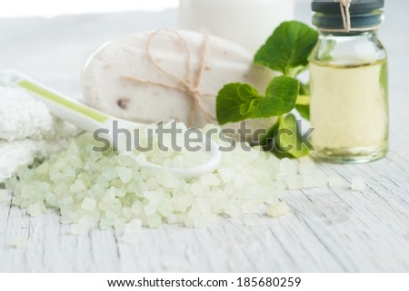 Natural Cosmetics.Spa - stock photo