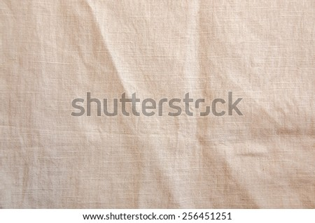 natural crushed canvas texture - stock photo