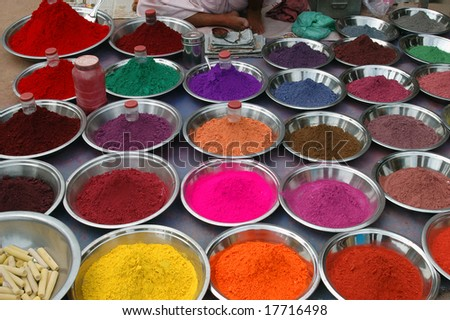 natural dyes - stock photo