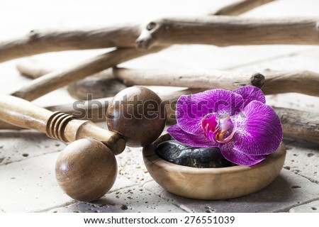 natural elements for massage and beauty concept - stock photo