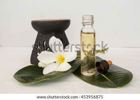 natural essential herbal oils flowers   - stock photo