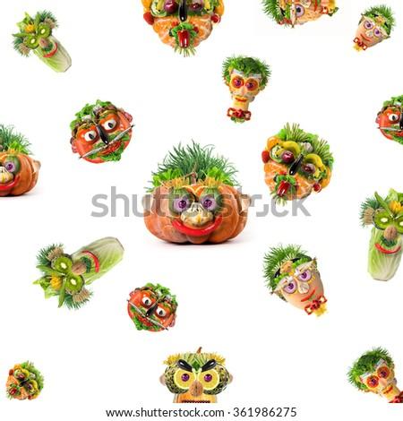 natural faces - stock photo