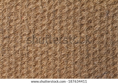 Natural fiber doormat, suitable for use as background or texture. - stock photo