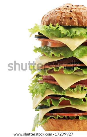 Natural form foods, pastry. Fast food. Shot in a studio. - stock photo