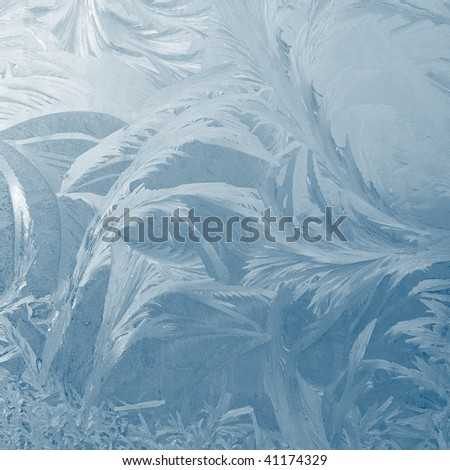 Natural frost on winter window