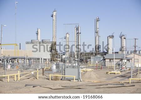 Natural gas compressor station - stock photo