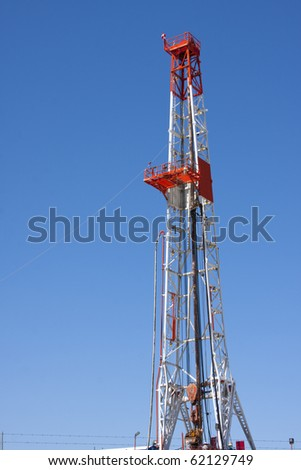 Natural gas drilling well in Texas - stock photo