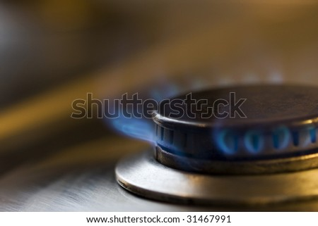 Natural gas fire - stock photo