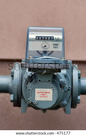 Natural Gas Meter - stock photo