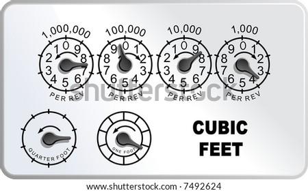 Natural Gas Meter Gauge - stock photo