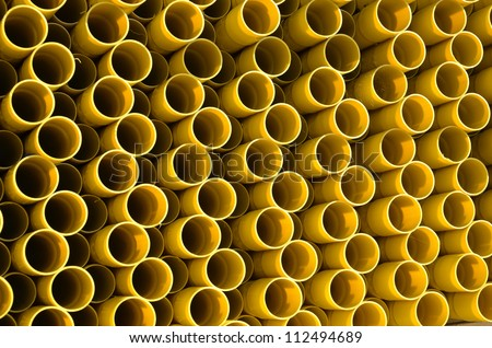 Natural gas pipes - stock photo