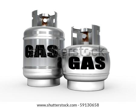 Natural gas tanks. - stock photo
