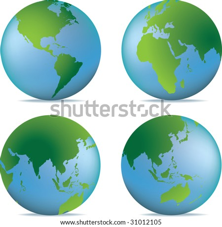 natural globe - stock photo