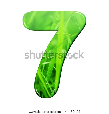 natural grass letter. - stock photo