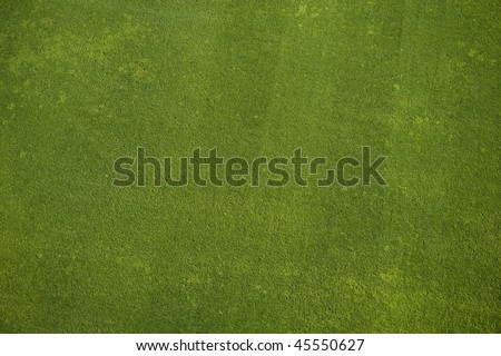 Natural grass texture. Aerial view of football field. - stock photo