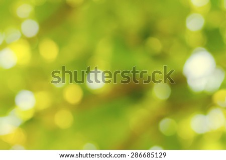 Natural Green Background. Bokeh - stock photo
