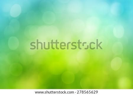 natural green bokeh blur background  - stock photo