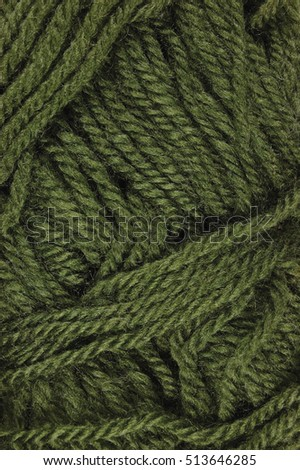 Natural green fine wool threads texture, vertical textured clew macro closeup background pattern