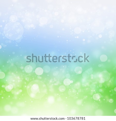 Natural green paradise background with selective focus - stock photo