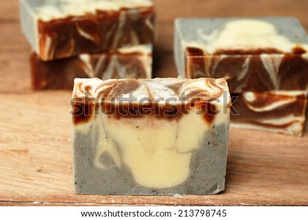 natural handmade soap. - stock photo