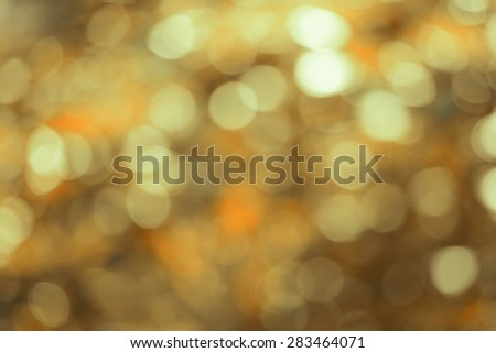 Natural Honey Yellow Bokeh background ,blurred bokeh. - stock photo