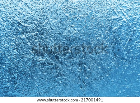 Natural ice blue close up texture - stock photo