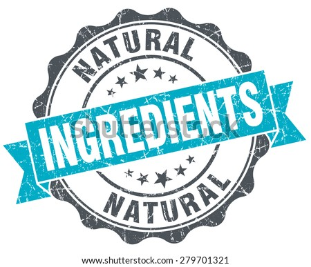 natural ingredients vintage turquoise seal isolated on white - stock photo